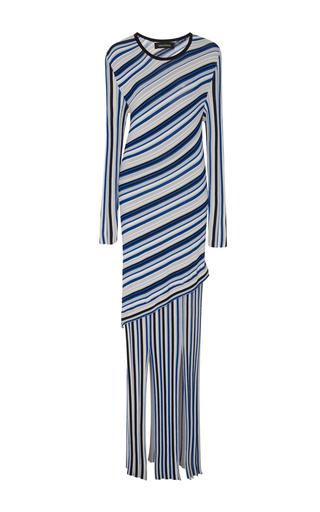 Medium tabula rasa stripe theia multi split dress