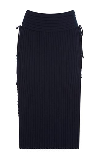 Medium tabula rasa navy aura lace up pencil skirt