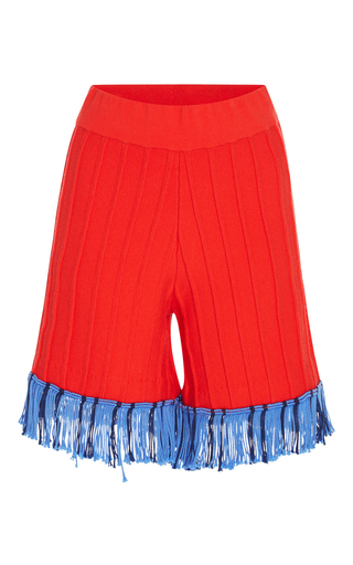 Medium tabula rasa red hoxton colorblock fringe short
