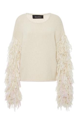 Medium tabula rasa neutral karash fringe sleeve sweater