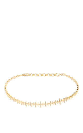 Medium kamushki gold 18k yellow gold diamond bone choker