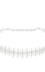 18 K White Gold & Diamond Bone Choker by KAMUSHKI Now Available on Moda Operandi