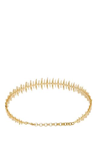 18 K Yellow Gold & Diamond Bone Choker by KAMUSHKI Now Available on Moda Operandi