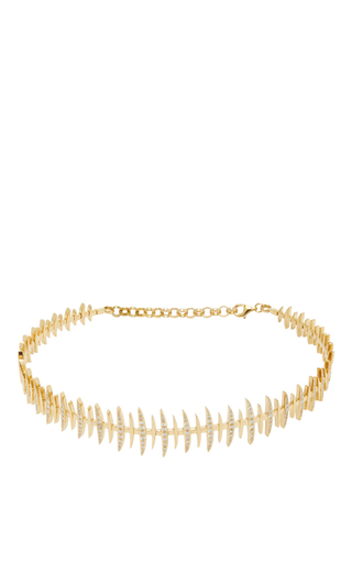 Medium kamushki gold 18k yellow gold diamond bone choker 2