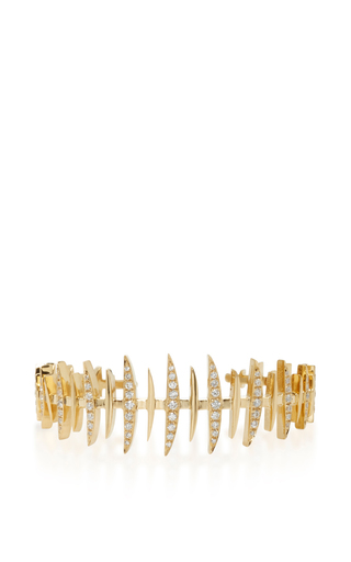 18 K Yellow Gold Bone Bangle by KAMUSHKI Now Available on Moda Operandi