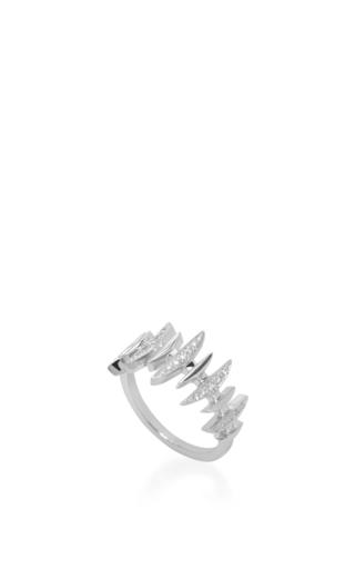 18 K White Gold Diamond Bone Ring by KAMUSHKI Now Available on Moda Operandi