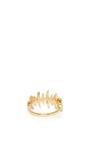 18 K Yellow Gold Diamond Bone Ring by KAMUSHKI Now Available on Moda Operandi