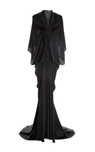 Medium zac posen black stripe charmeuse gown 2