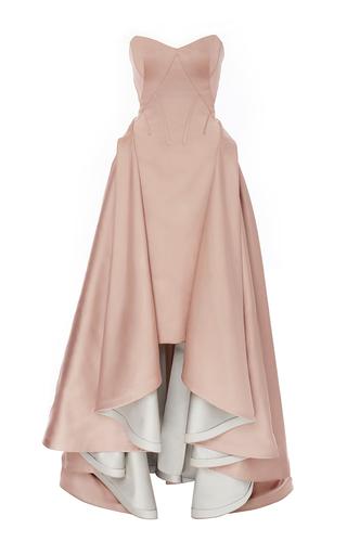 Medium zac posen pink double face duchess strapless gown
