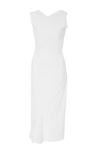 Medium zac posen white stretch cady dress
