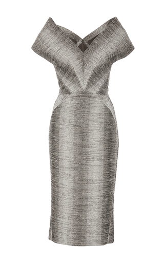 Medium zac posen print snake ottoman dress