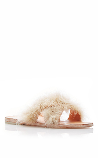 Medium brother vellies yellow marabou lamu sandal 3
