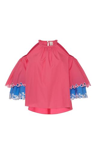Medium peter pilotto pink layered cutout blouse