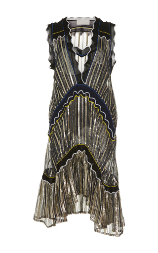 Medium peter pilotto multi chiffon mini sheath dress