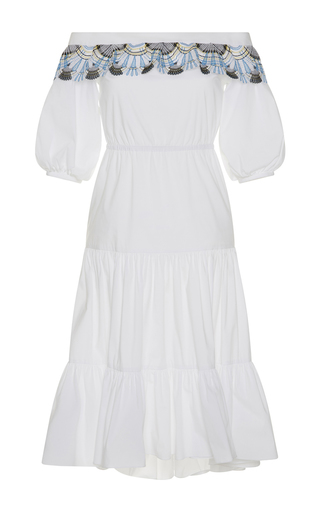Medium peter pilotto white off the shoulder pallas dress