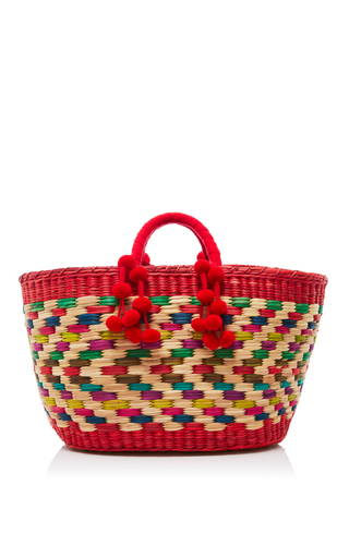 Medium nannacay red red zanzibar aninha tote