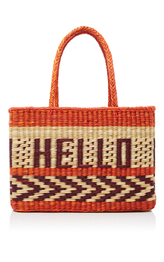 Medium nannacay red goa hello tote