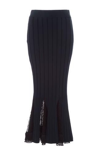 Medium jonathan simkhai navy deep rib trumpet skirt