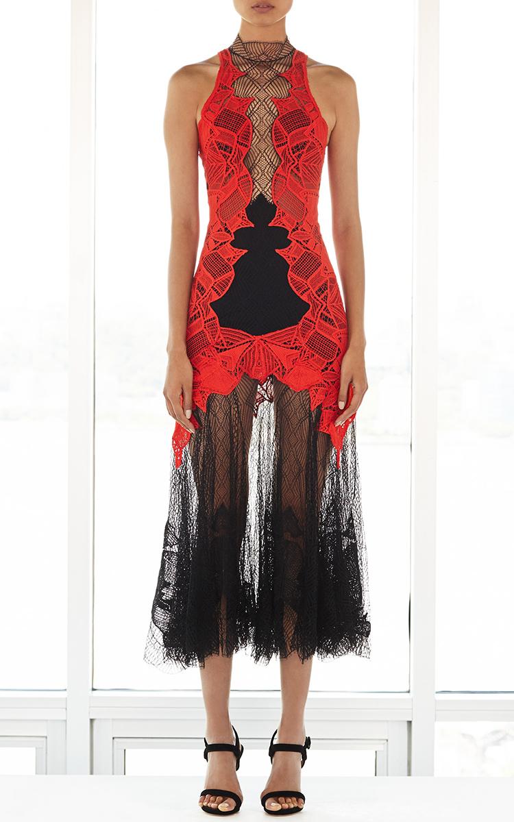 Dome Lace Corded Applique Dress By Jonathan Simkhai Moda