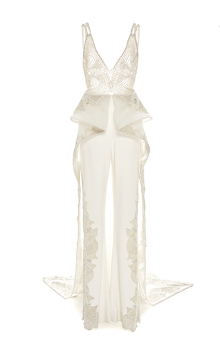 Medium jonathan simkhai ivory asymmetric hem skirt jumpsuit