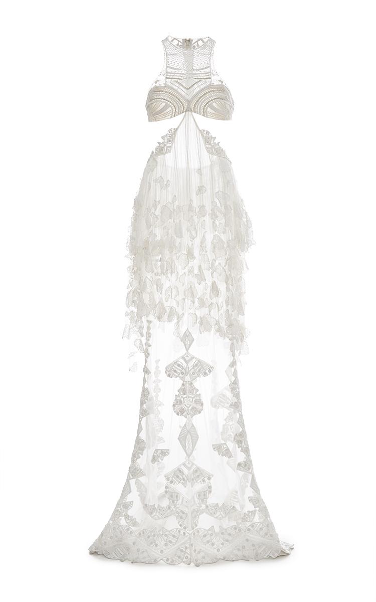 Halter Side Slit Gown By Jonathan Simkhai Moda Operandi