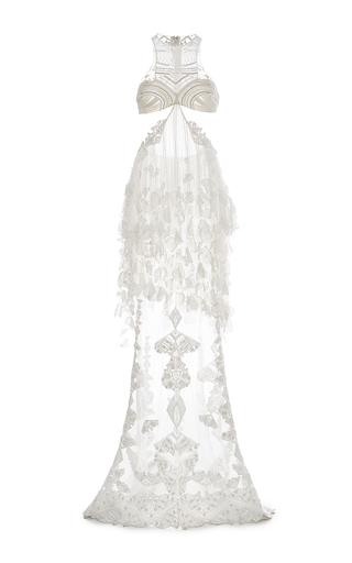 Medium jonathan simkhai white halter side slit gown