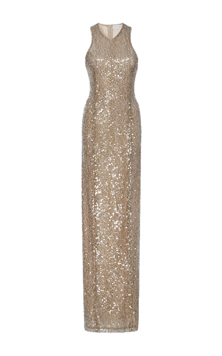 Medium galvan gold moonlight racerback dress