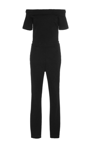 Medium 3x1 black off the shoulder jumpsuit