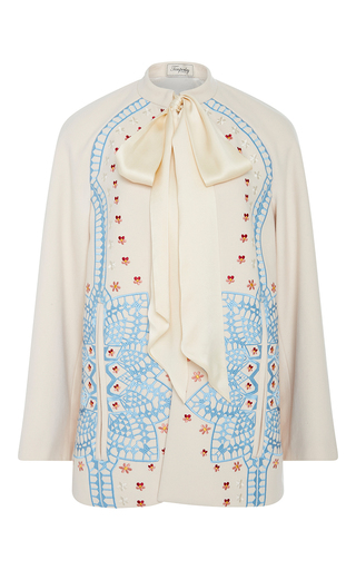 Medium temperley london off white cream juniper wool sleeved cape