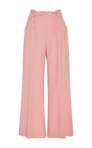 Medium temperley london pink blossom opus wide leg trousers