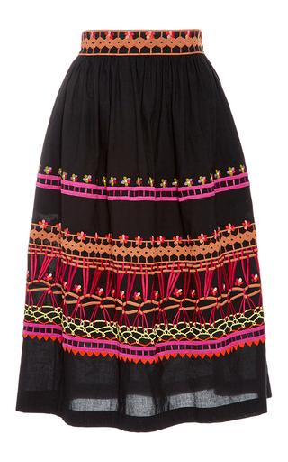 Medium temperley london black amity cotton skirt