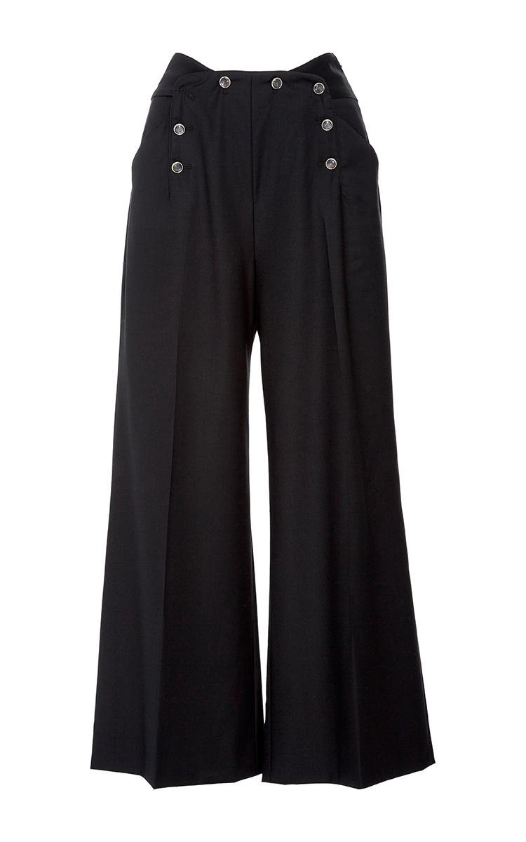 wide leg trousers - Black Temperley London Di0q65I