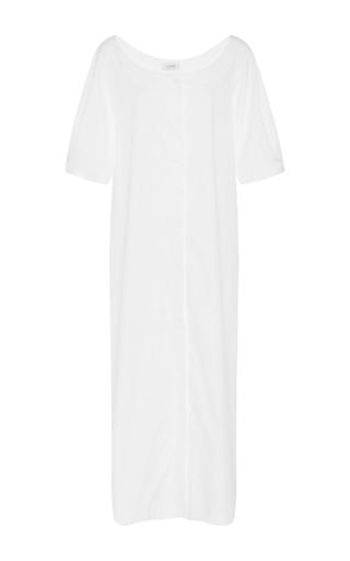 Medium isa arfen white off the shoulder long shirtdress