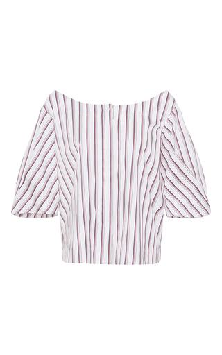 Medium isa arfen stripe bunting stripe off the shoulder blouse