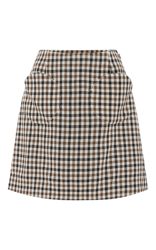 Medium isa arfen plaid coco chess classic mini skirt
