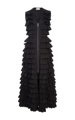 Medium isa arfen black ruffle long dress