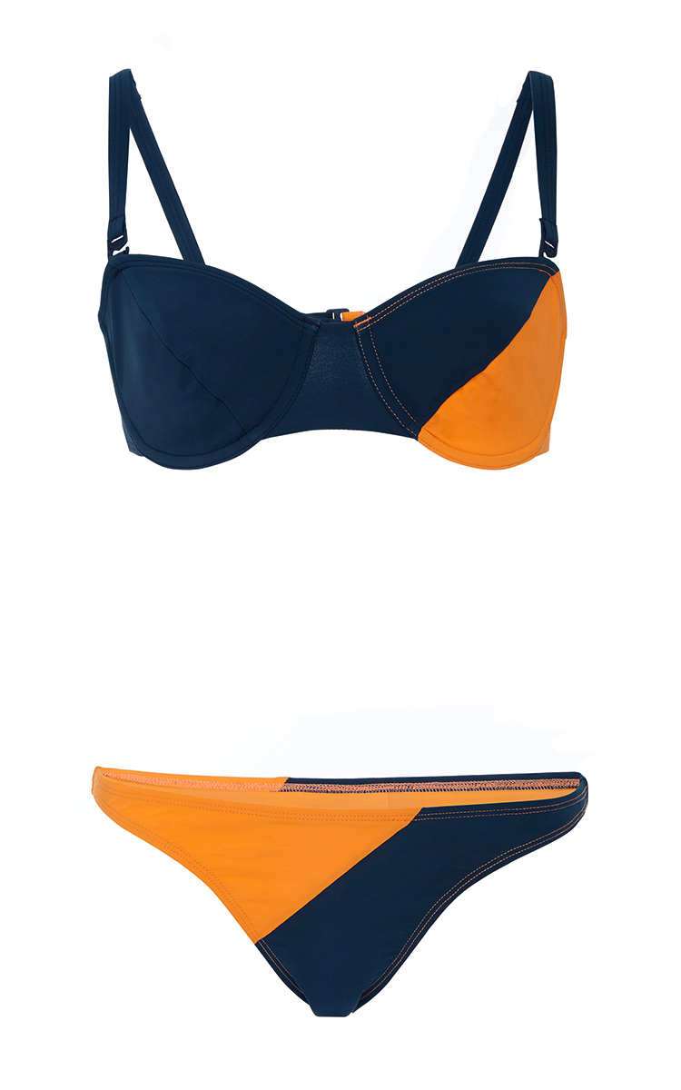 6aa6d50233 Color Block Underwire Bikini Set by Flagpole | Moda Operandi