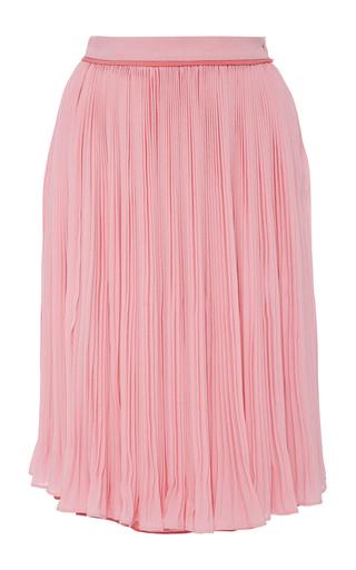 Medium carven pink crepe pleated skirt
