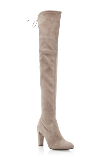 Medium stuart weitzman  2 light grey highland boot