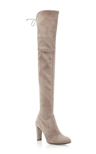Medium stuart weitzman  2 light grey highland boot