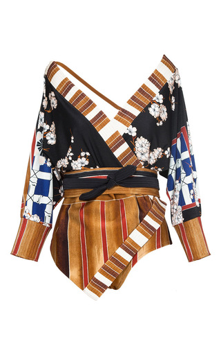 Medium lenny niemeyer floral cottage kimono maillot swimsuit