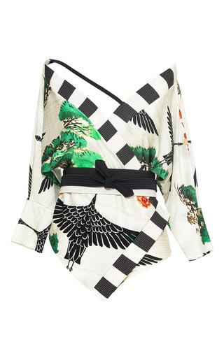 Medium lenny niemeyer white bonsai kimono maillot