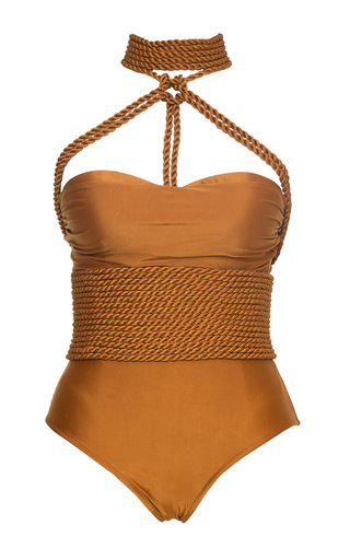 Medium lenny niemeyer gold shibari rope maillot swimsuit