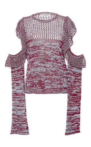 Medium philosophy di lorenzo serafini red ruffle cutout shoulder top