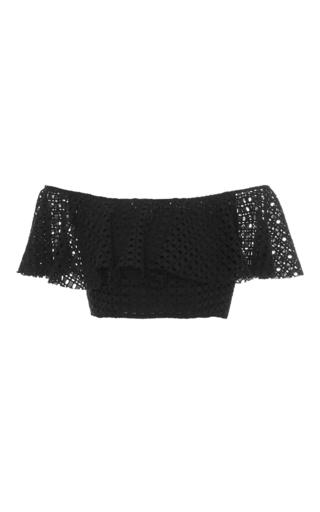 Medium philosophy di lorenzo serafini black broiderie anglaise crop top