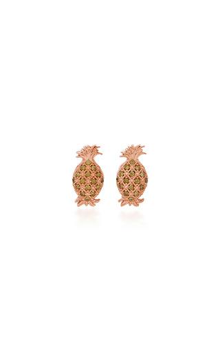 Medium begum khan gold pineapple cufflinks