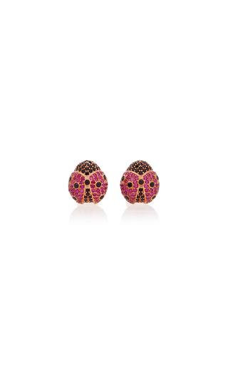 Medium begum khan pink ladybug cufflinks