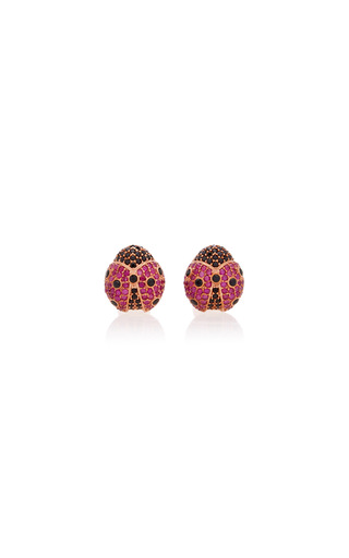 Medium begum khan pink ladybug cufflinks