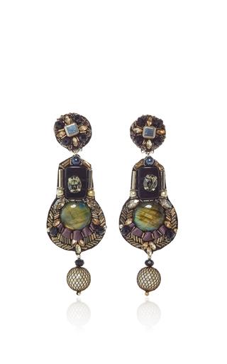 Medium ranjana khan metallic onyx gunmetal earrings