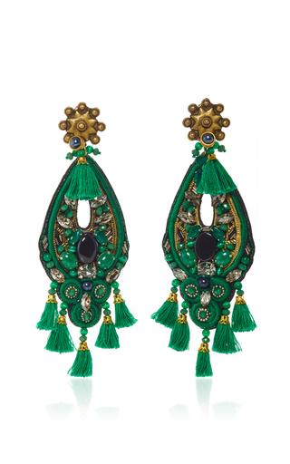 Medium ranjana khan green forest green amethyst earrings